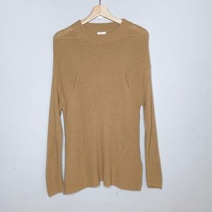 BP camel color chunky knit soft pullover sweater